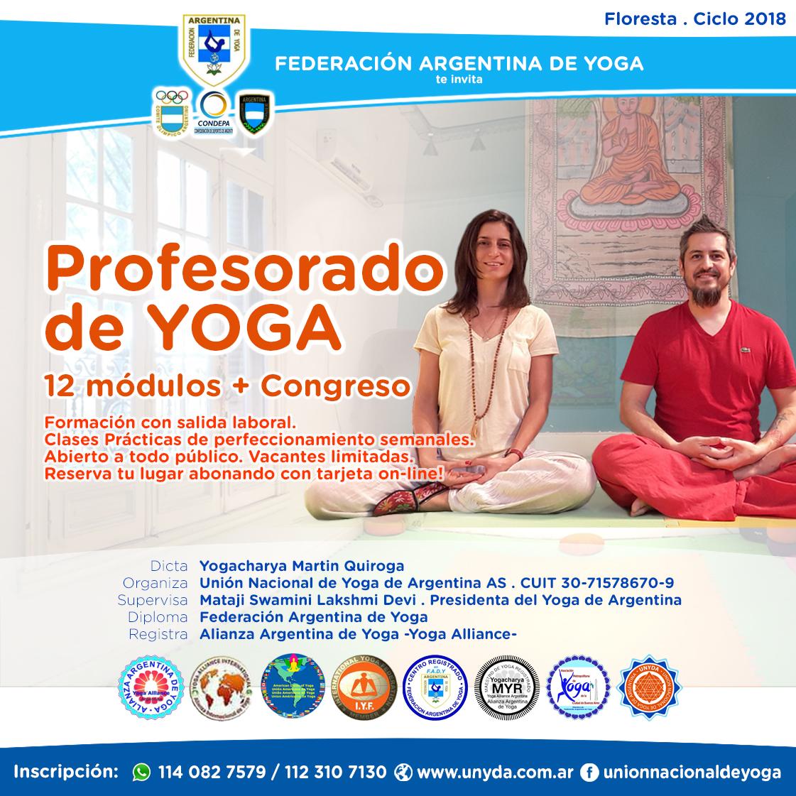 Profesorado de Yoga Integral en Floresta
