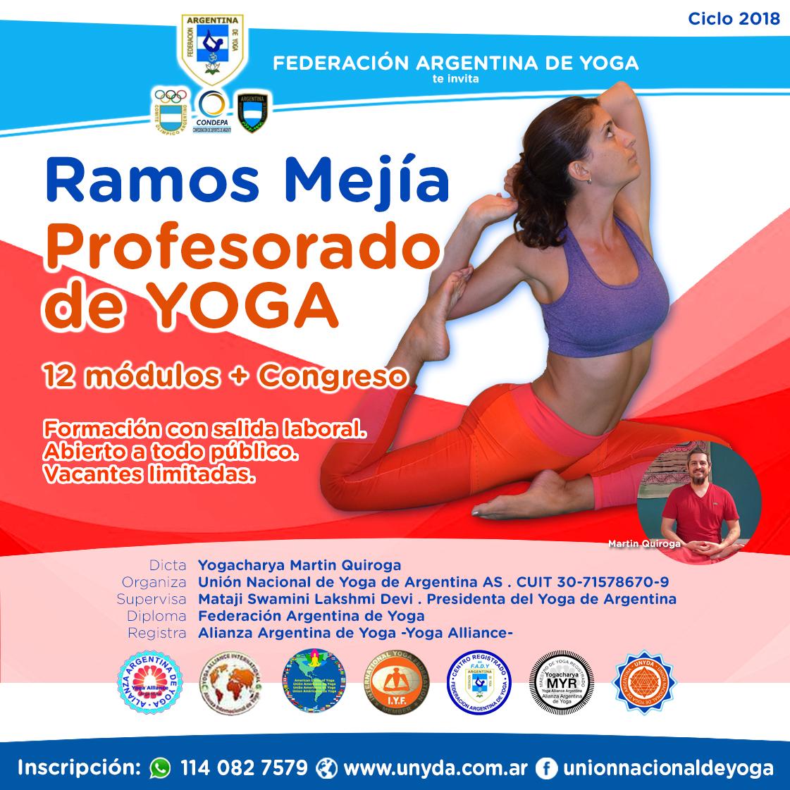 Profesorado de Yoga Integral en Ramos Mejía