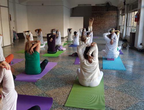 Festejos por el día Internacional del yoga