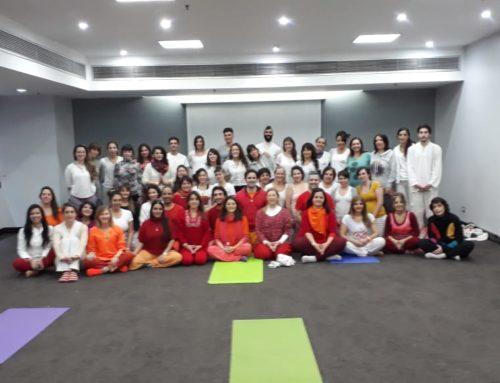 Festejos por el día Internacional del yoga en la Ciudad de Buenos Aires