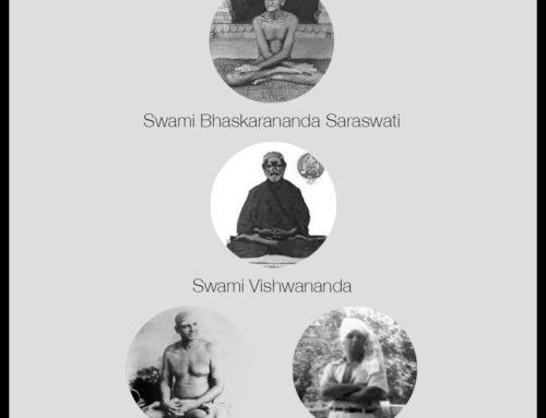 Linaje de Swami Bhaskarananda por medio de Swami Vishwananda